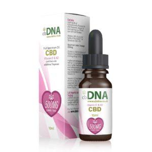 cbDNA 500MG CBD Oil Vitamin D K2 01